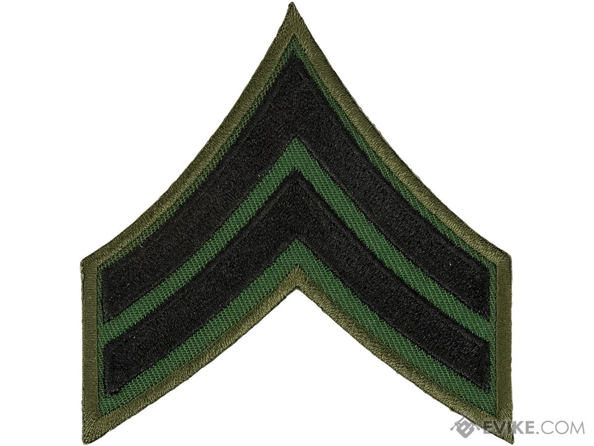 Matrix Military Ranking Embroidery Patch with Hook Fastener (Style: Corporal)