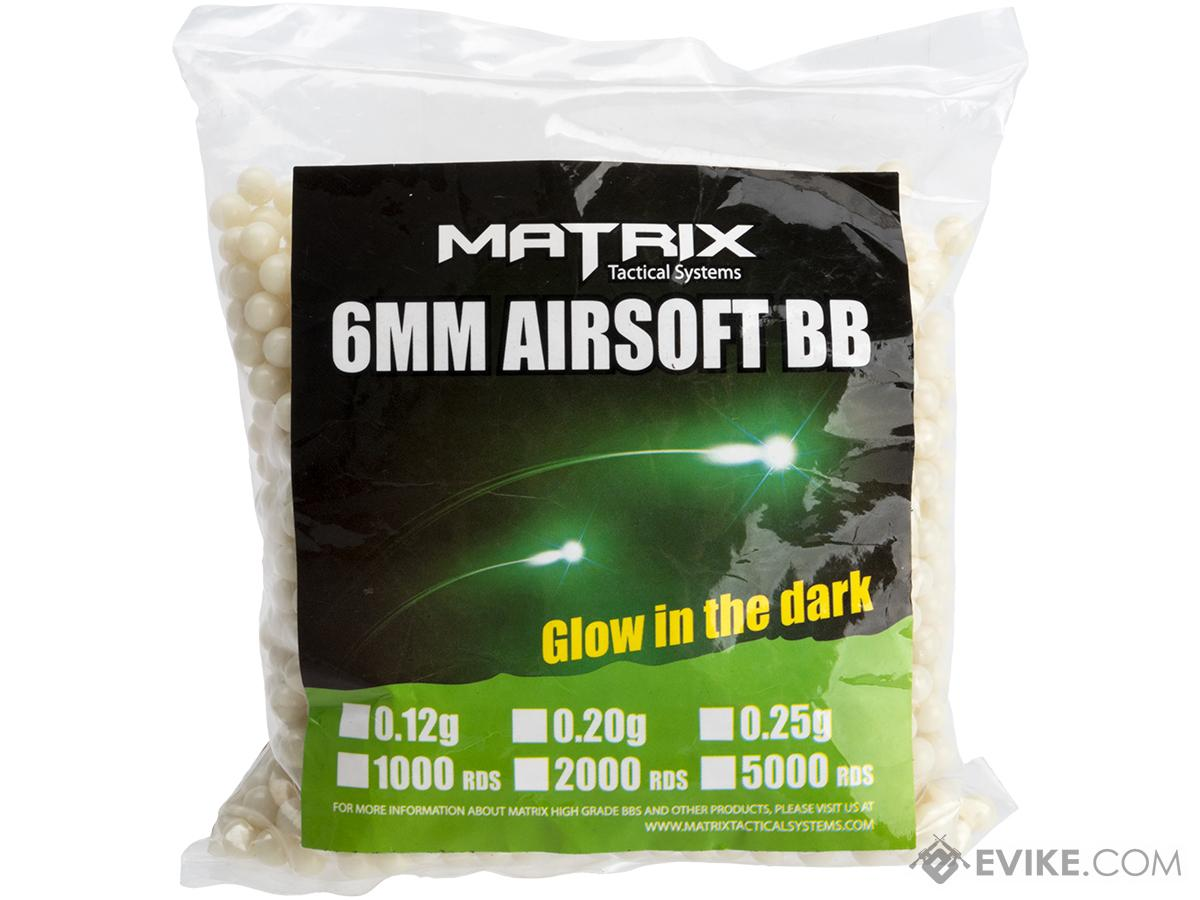 0.20g Match Grade 6mm Glow in the Dark Airsoft Tracer BB by Matrix - Green (QTY: 1 Bag / 2,000 Rounds)