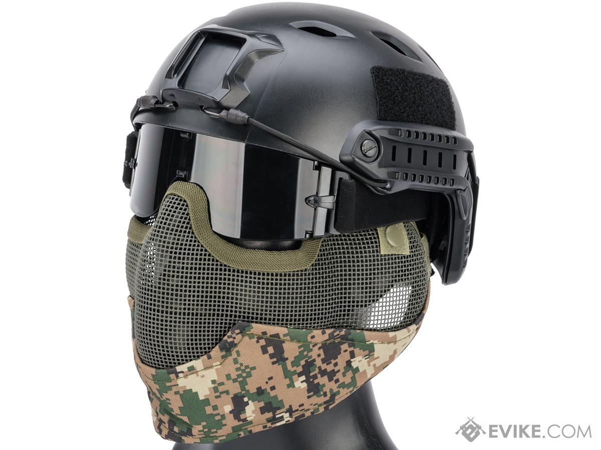 Matrix Iron Face Carbon Steel Striker Gen2 Metal Mesh Lower Half Mask (Color: Digital Woodland)