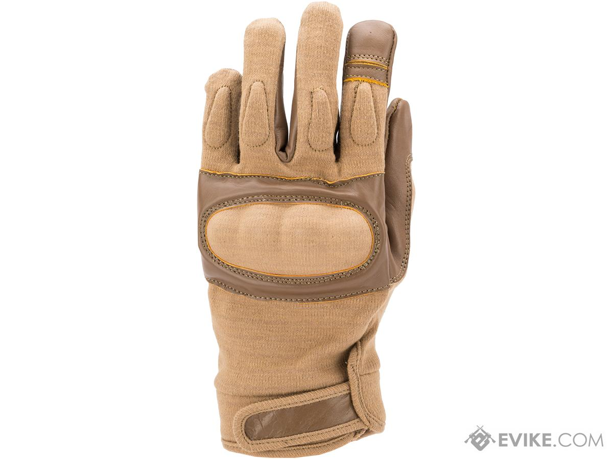Nomex Hard Shell Knuckle Tactical Gloves (Color: Tan / Small)