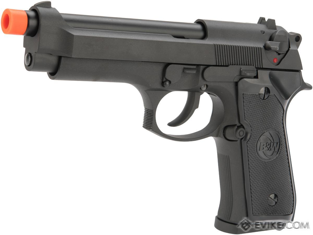 Matrix Poseidon Custom Airsoft M9 Full Metal Gas Blowback Airsoft Pistol (Color: Black)