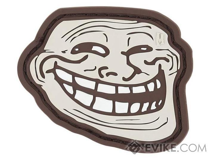 Maxpedition Troll Face PVC Morale Patch (Color: Arid)