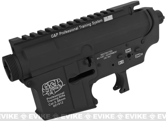 G&P Advanced Type Aircraft Aluminum Metal Receiver for M4 M16 Series Airsoft AEG Rifles (Color: Black / Tapered Barrel)