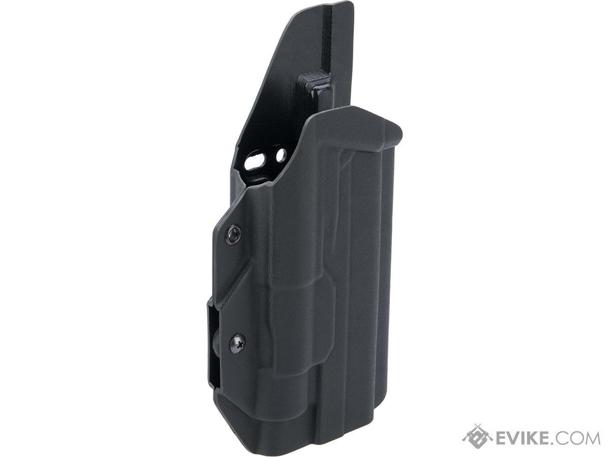 MC Kydex Airsoft Elite Series Pistol Holster for 2011 / Hi-Capa Series w/ TLR-1 Flashlight (Model: Black / No Attachment / Right Hand)