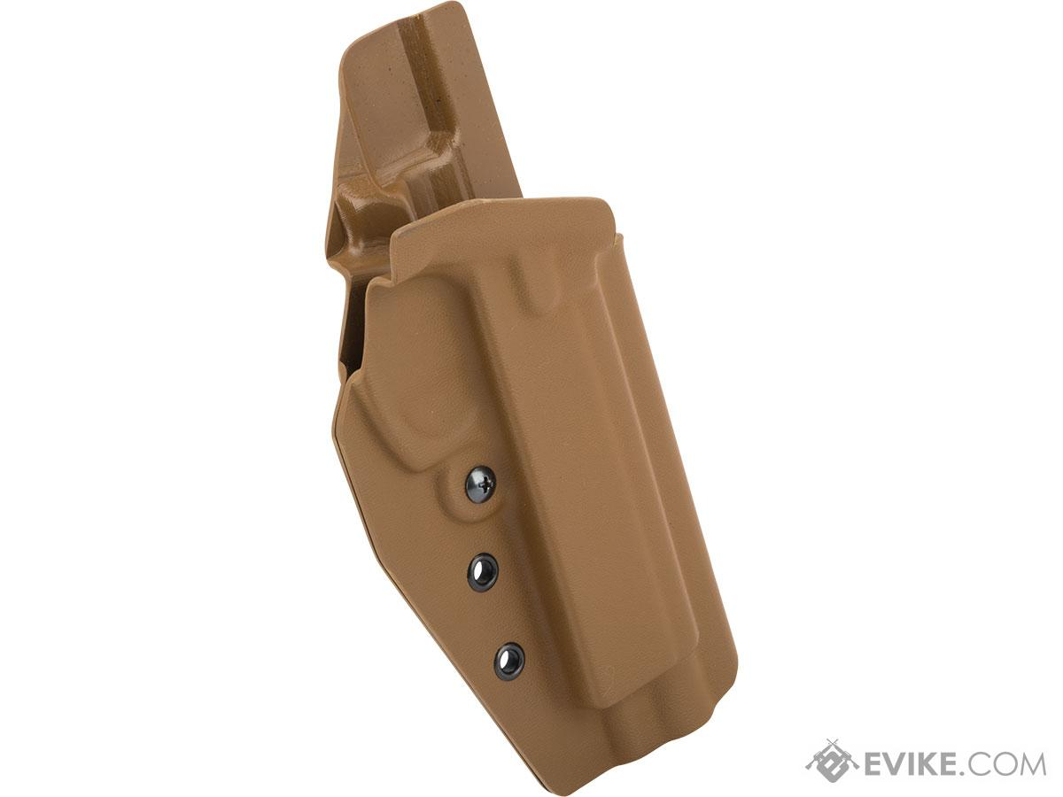 MC Kydex Airsoft Elite Series Pistol Holster for CZ SP-01 Shadow (Model: Coyote Brown / No Attachment / Right Hand)