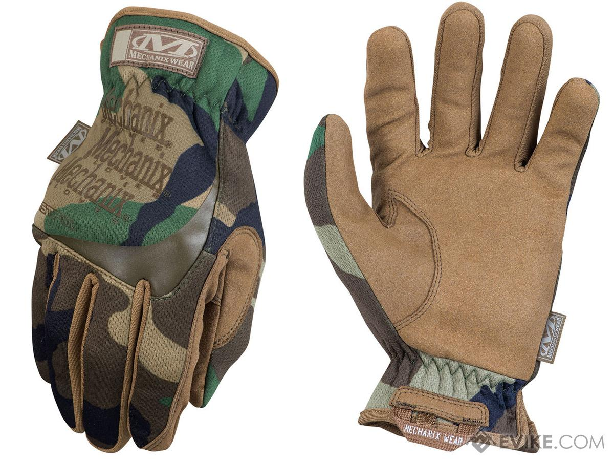 Mechanix FastFit Tactical Gloves (Color: Woodland / Medium)