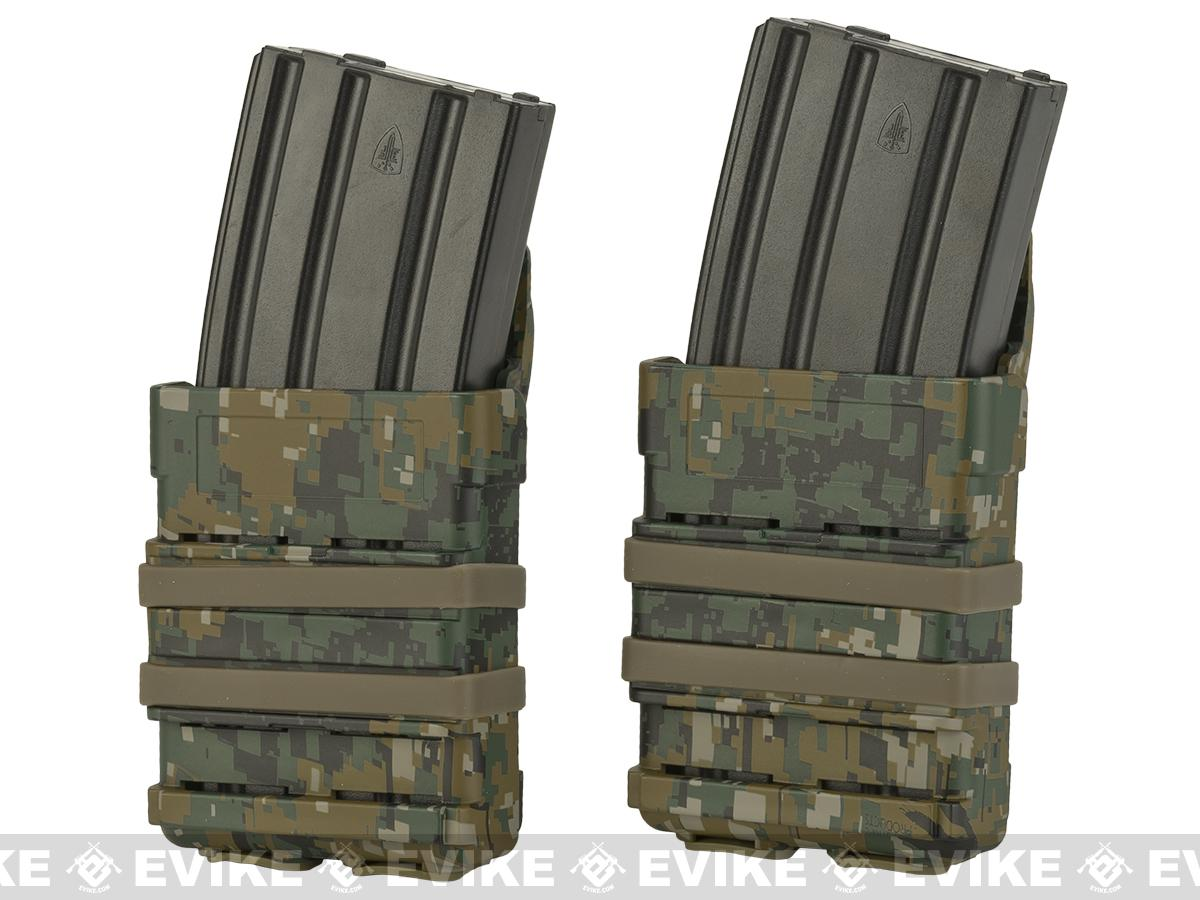 Matrix Fast Hard Shell Magazine Holster - 2x Rifle Mag Configuration (Color: Digital Woodland)