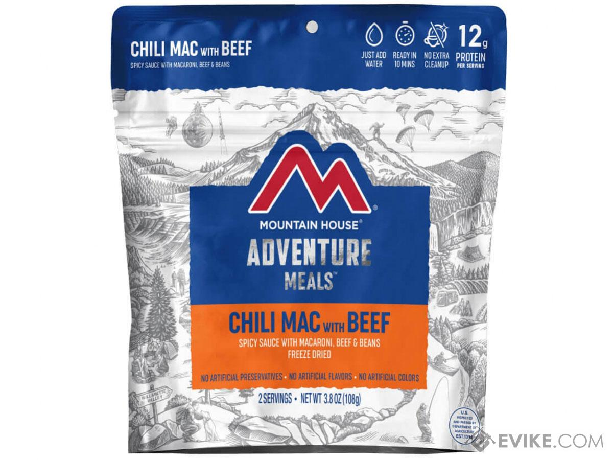Mountain House Freeze Dried Camping Food (Menu: Chili Mac with Beef)