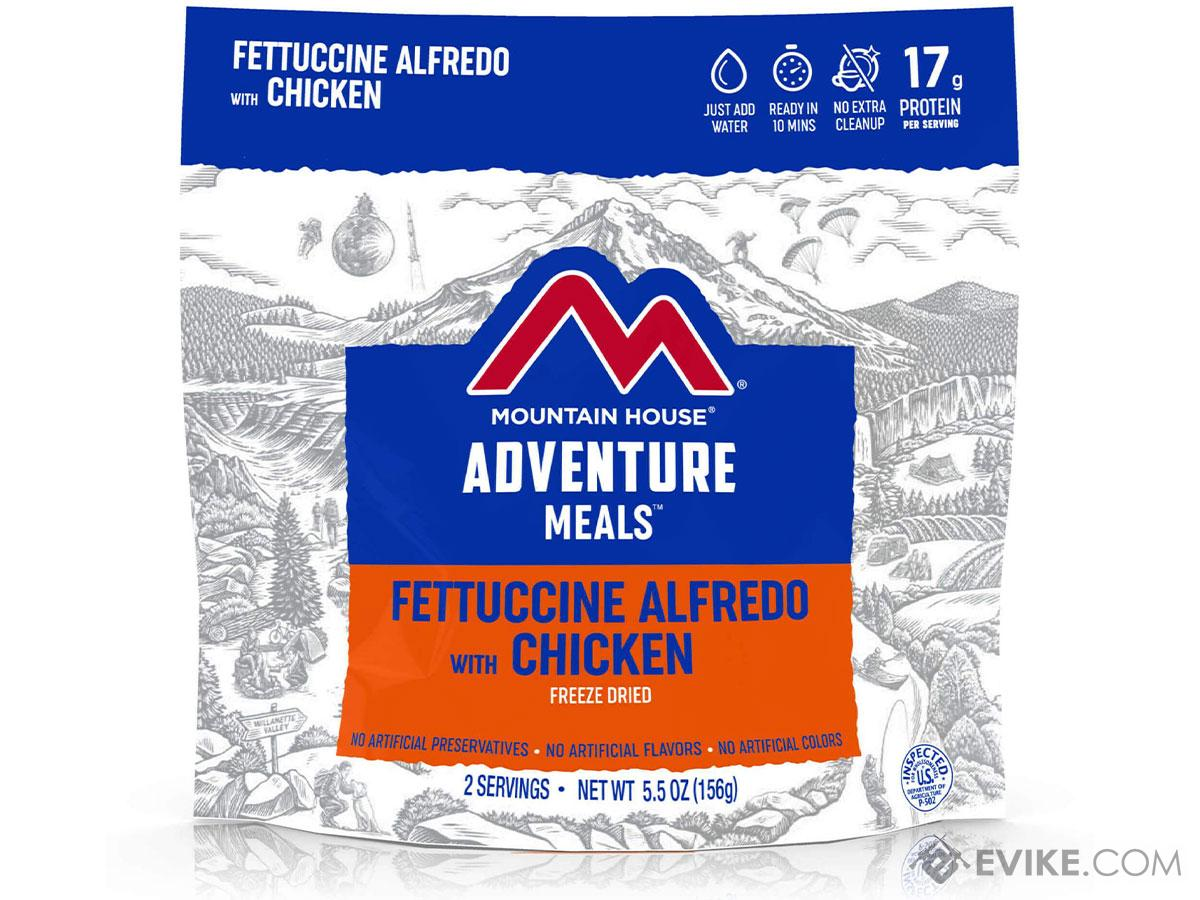 Mountain House Freeze Dried Camping Food (Menu: Fettuccine Alfredo with Chicken)