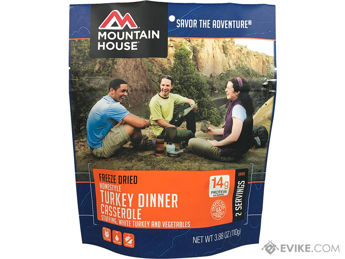 Mountain House Freeze Dried Entree (Menu: Homestyle Turkey Dinner Casserole)
