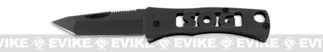 SOG Micron Folding Tactical Knife - Black Tanto