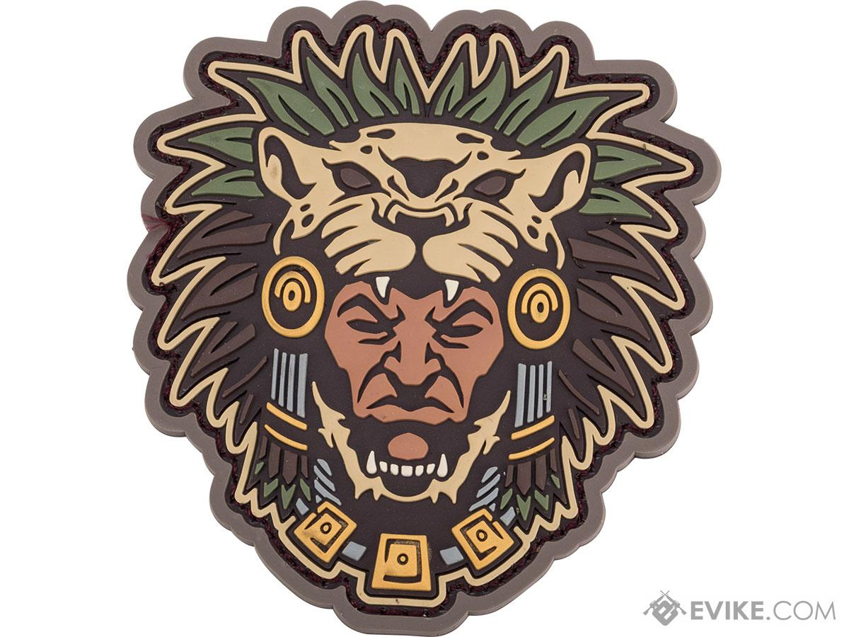 Mil-Spec Monkey Aztec Warrior Head 1 PVC Morale Patch (Color: Multicam)