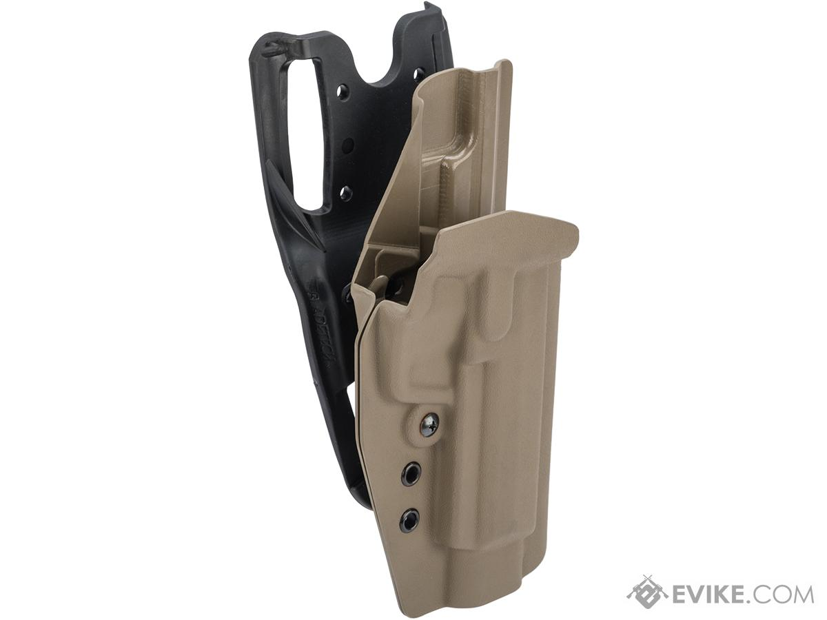 MC Kydex Airsoft Elite Series Pistol Holster for H&K HK45 (Model: Flat Dark Earth / Duty Drop / Right Hand)
