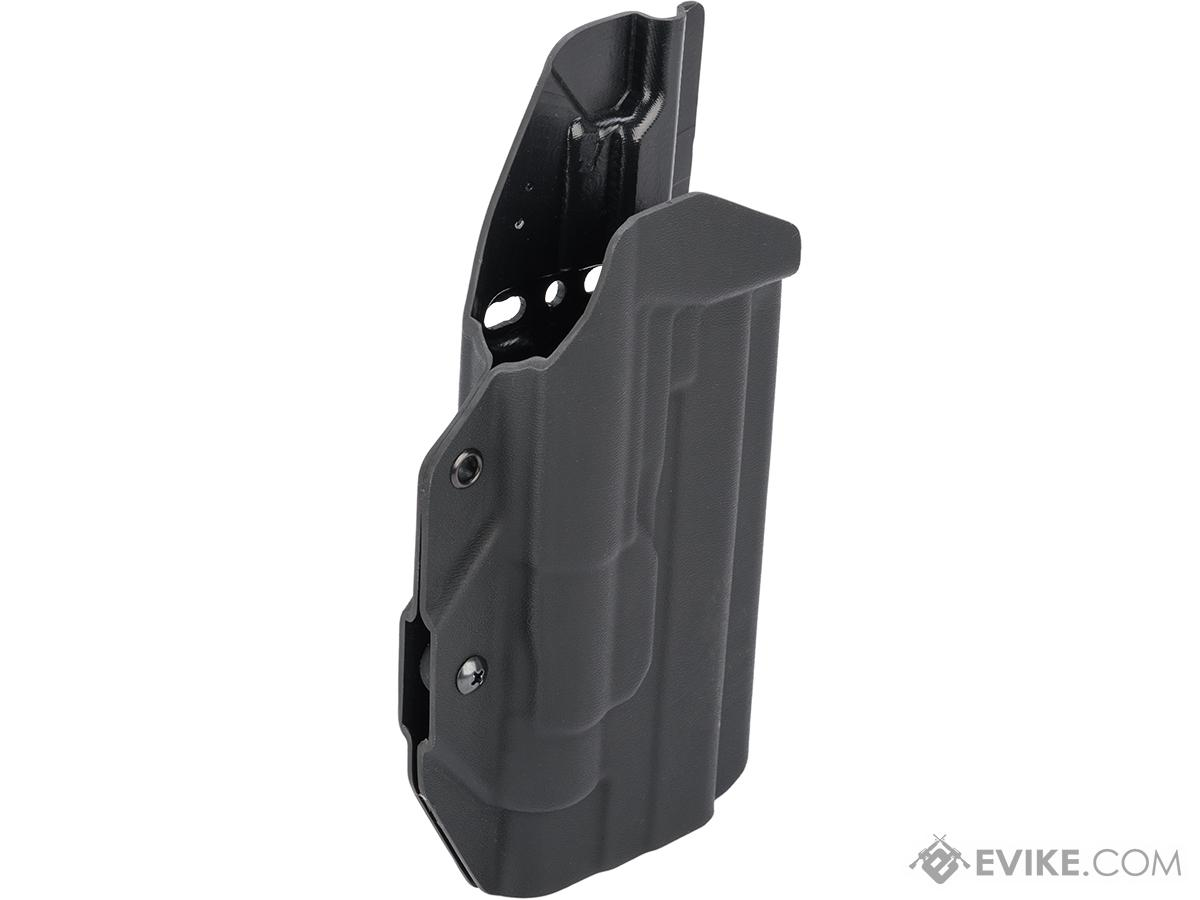 MC Kydex Airsoft Elite Series Pistol Holster for 1911 w/ TLR-1 Flashlight (Model: Black / No Attachment / Right Hand)