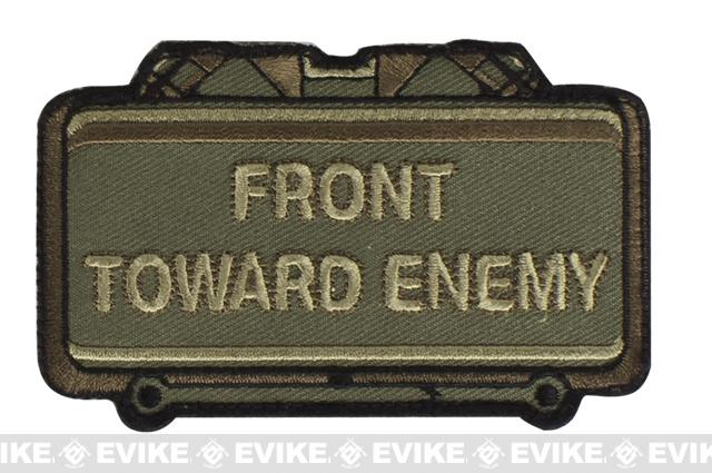 Mil-Spec Monkey Front Toward Enemy Hook and Loop Patch - Forest