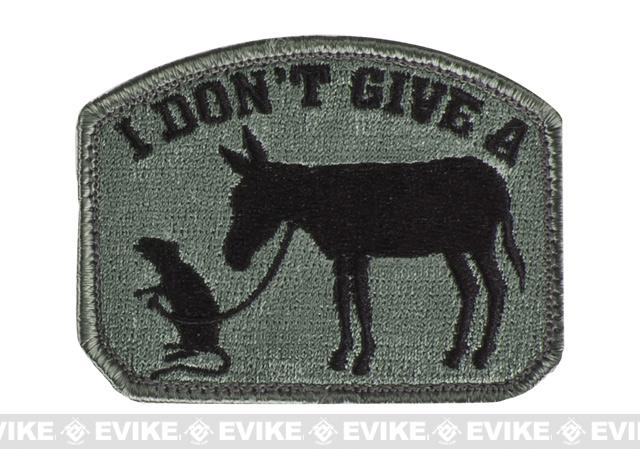 Mil-Spec Monkey I Don't Give A Rat's Ass Patch - ACU Dark
