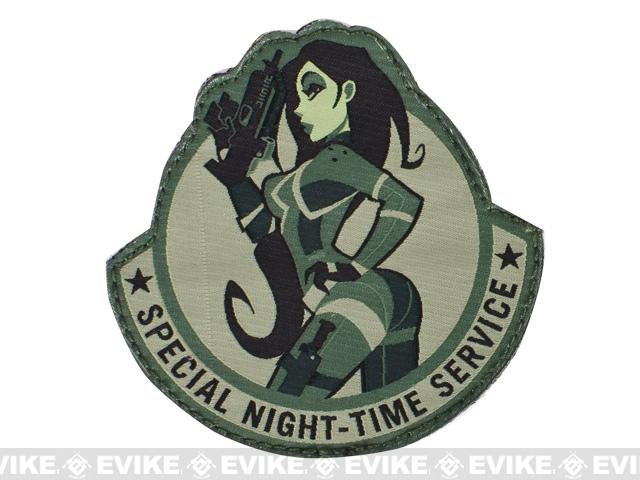 Mil-Spec Monkey Special Night Hook and Loop Patch - ACU