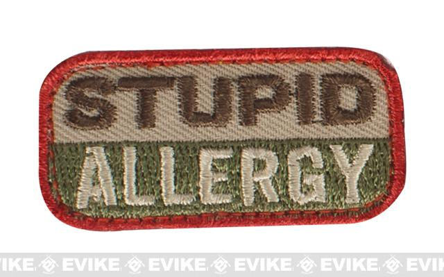 Mil-Spec Monkey Stupid Allergy Hook and Loop Patch - Arid