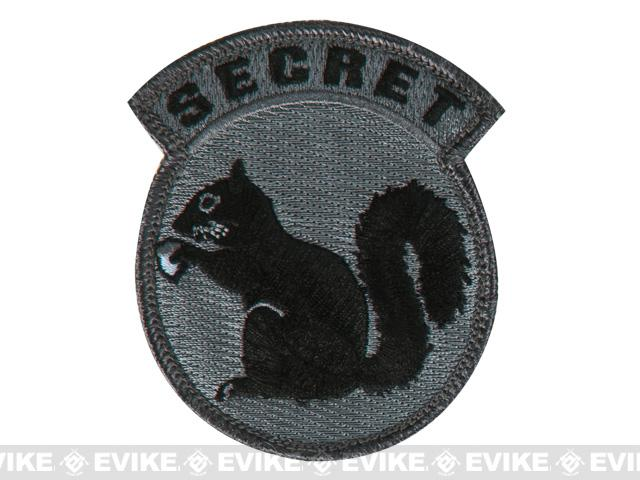 Mil-Spec Monkey Secret Squirrel Hook and Loop  Patch - ACU Dark