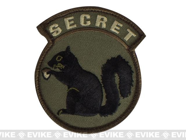 Mil-Spec Monkey Secret Squirrel Hook and Loop Patch (Color: Forest)
