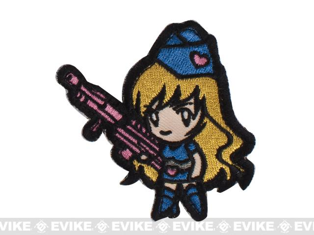 Mil-Spec Monkey Gun Girl Hook and Loop Patch - Blue