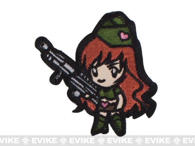 Mil-Spec Monkey Gun Girl Hook and Loop Patch - High Contrast