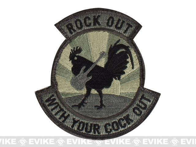 Mil-Spec Monkey Rock Out Hook and Loop Patch - ACU