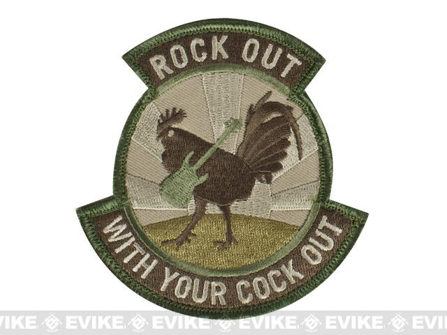 Mil-Spec Monkey Rock Out Hook and Loop Patch - Arid