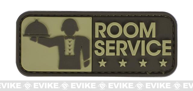 Mil-Spec Monkey Room Service PVC Hook and Loop Patch - Desert