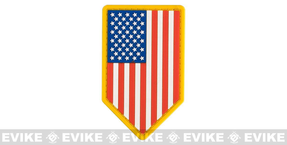 Mil-Spec Monkey PVC Vertical US Flag Patch - Full Color