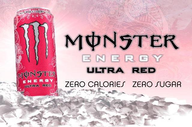 Monster Energy Drink - Ultra Red