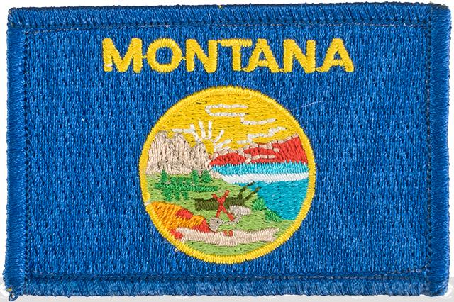 Evike.com Tactical Embroidered Flag Patch (State: Montana The Treasure State)