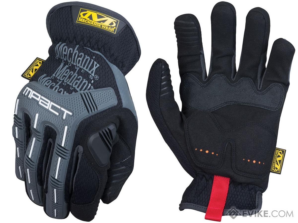 Mechanix Wear M-Pact Open Cuff Gloves - Black (Size: Small)