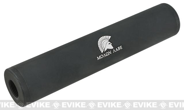 Matrix Airsoft Mock Silencer / Barrel Extension - 30 X 150mm (Style: Molon Labe / Black)