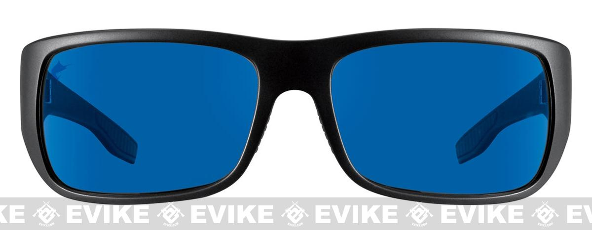 919ecec227 Pelagic PMG Fish Hook Polaraized Sunglasses - Matte Black Frame   Blue  Glass Lenses. Hover or touch above to zoom. Product image 1 Product image 2  Product ...