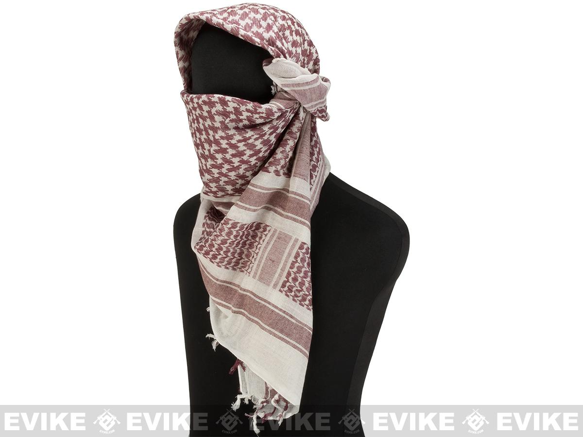 Matrix Woven Coalition Desert Shemagh / Scarves (Color: Brown/White)