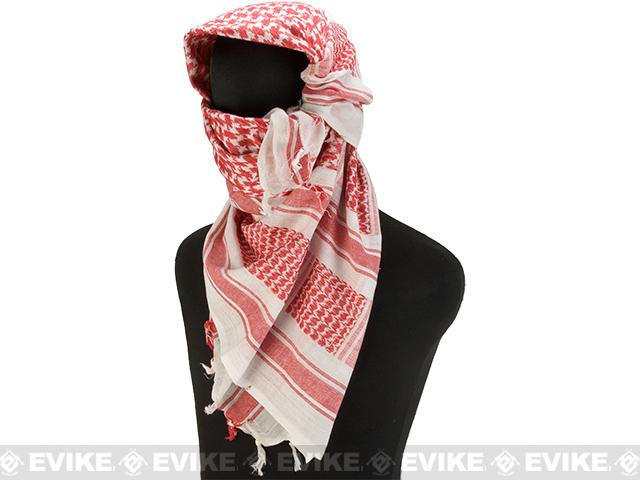 Matrix Woven Coalition Desert Shemagh / Scarves (Color: Red / White)