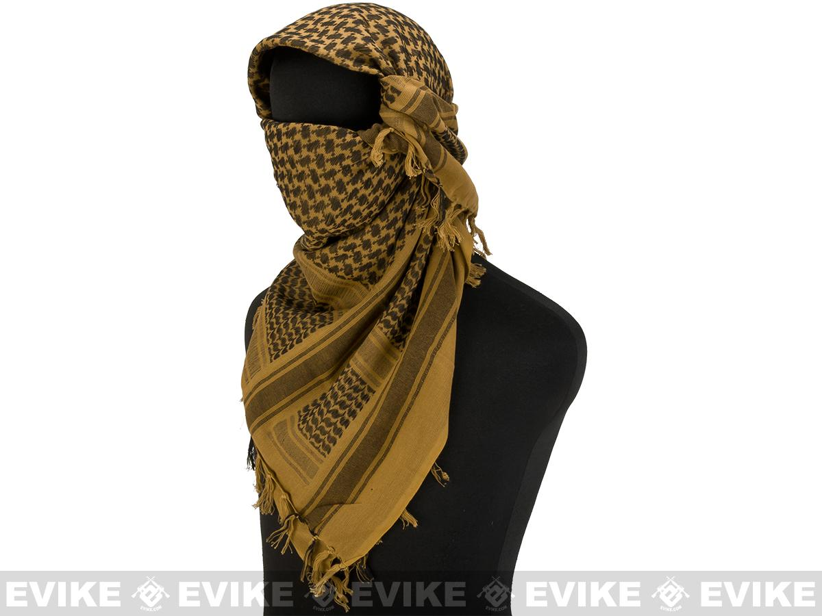 Matrix Woven Coalition Desert Shemagh / Scarves (Color: Dark Brown / Black)