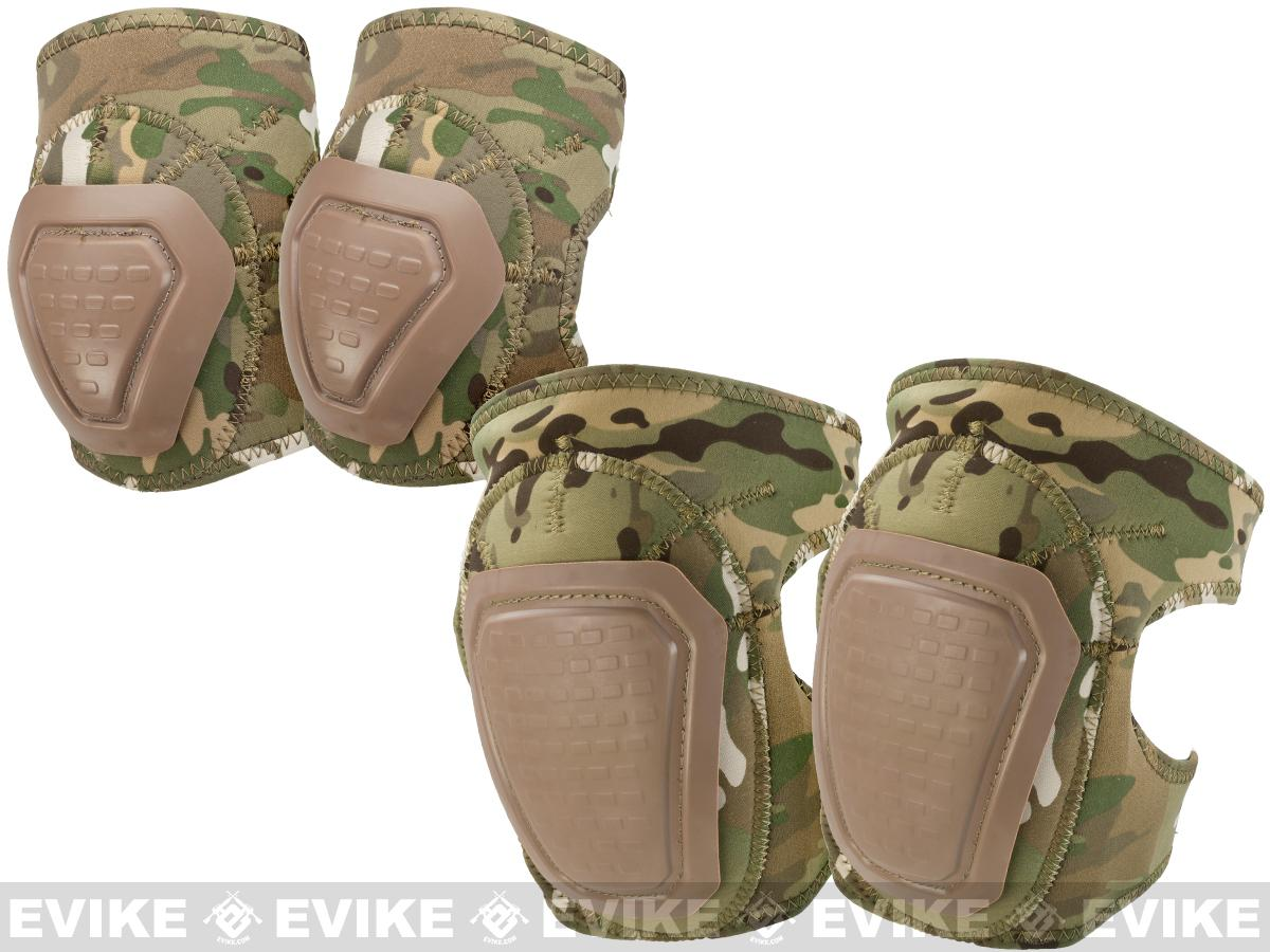 Matrix Bravo Advanced Neoprene Tactical Knee and Elbow Pad Set (Color: Camo)