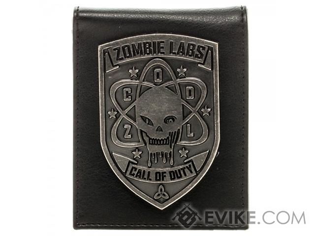 Call of Duty: Black Ops Zombie Lab Metal Badge Bi-Fold Wallet - Black