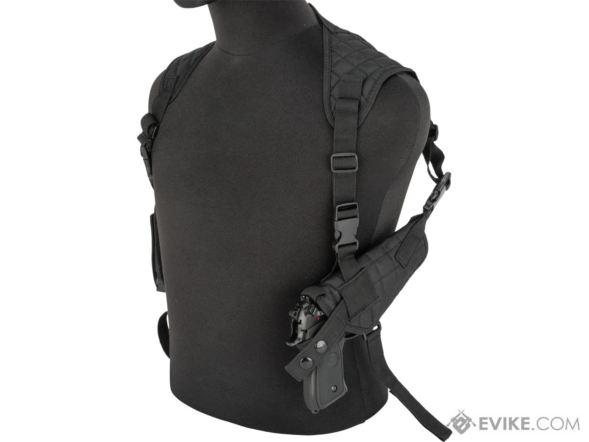 Universal Tactical Shoulder Holster with Dual Magazine Pouch (Color: Black)