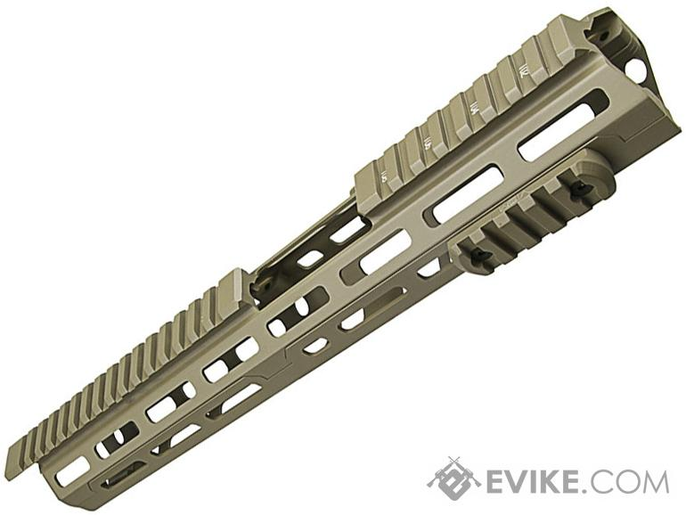 VISM by NcSTAR 13.75 Triangle M-LOK Carbine Length Hand Guard for AR15 Rifles (Color: Tan)