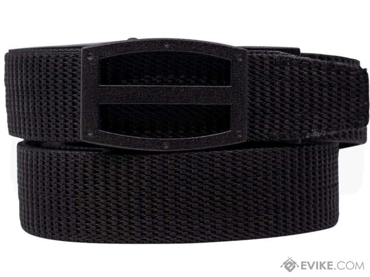 NexBelt PreciseFit™ Titan Micro Adjustment Ratcheting Nylon Gun Belt (Color: Black w/ Powder Coat Granite Black Buckle)