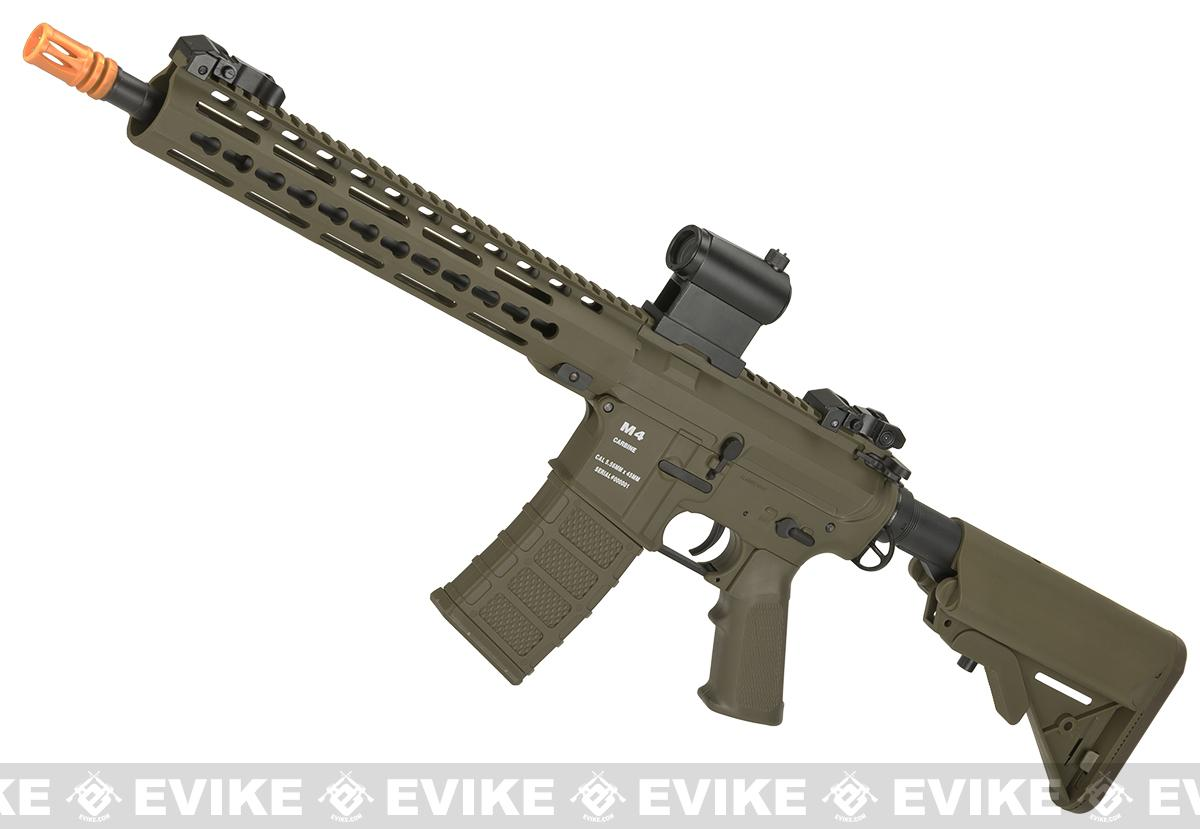 Classic Army Polymer  KM12 M4 Airsoft AEG Rifle with 12 KeyMod Handguard (Color: Dark Earth)