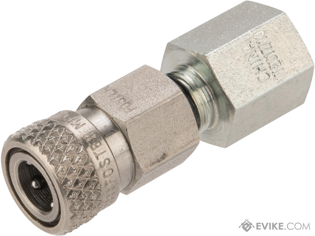 Stainless Steel Quick-Detach Safety Check Valve - 1/8 NPT  for HPA Powered Airsoft Guns (Female)