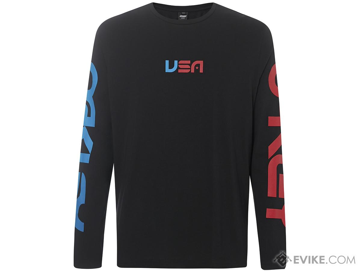 Oakley USA Star Long Sleeve Tee (Color: Blackout / Medium)
