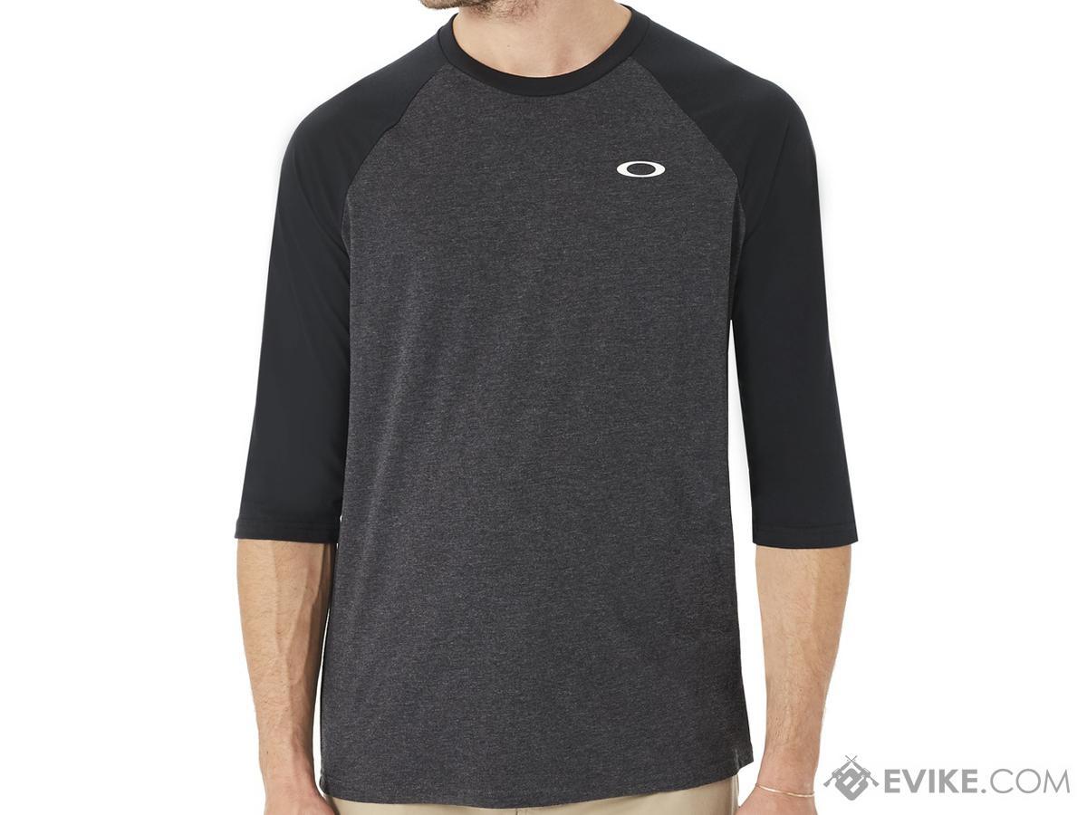 Oakley 50 SLV Raglan T-Shirt (Size: Blackout Light Heather / Large)