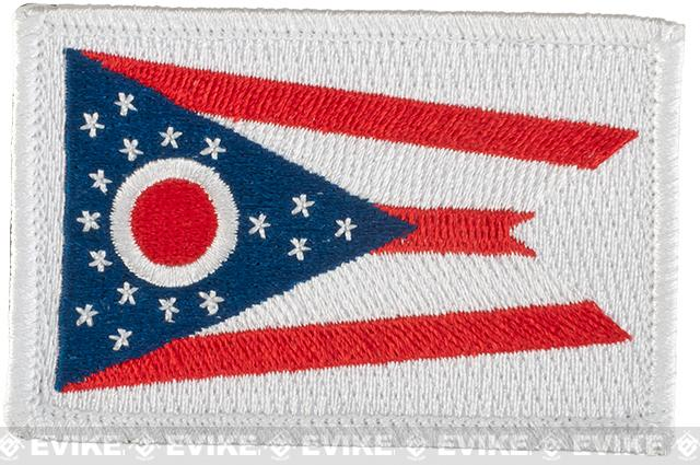 Evike.com Tactical Embroidered U.S. State Flag Patch (State: Ohio The Buckeye State)