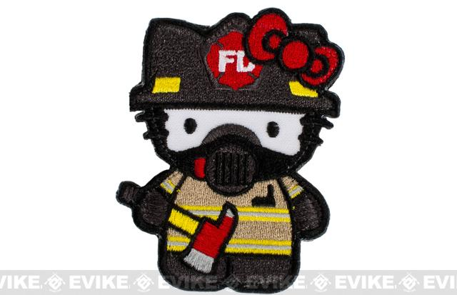 Matrix Firefighter Kitty Embroidered Patch