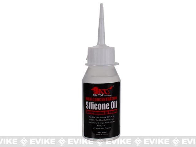 AIM Top High Concentration Silicone Oil Lubricant for Airsoft GBB AEG Real Steel Firearms (50ml)